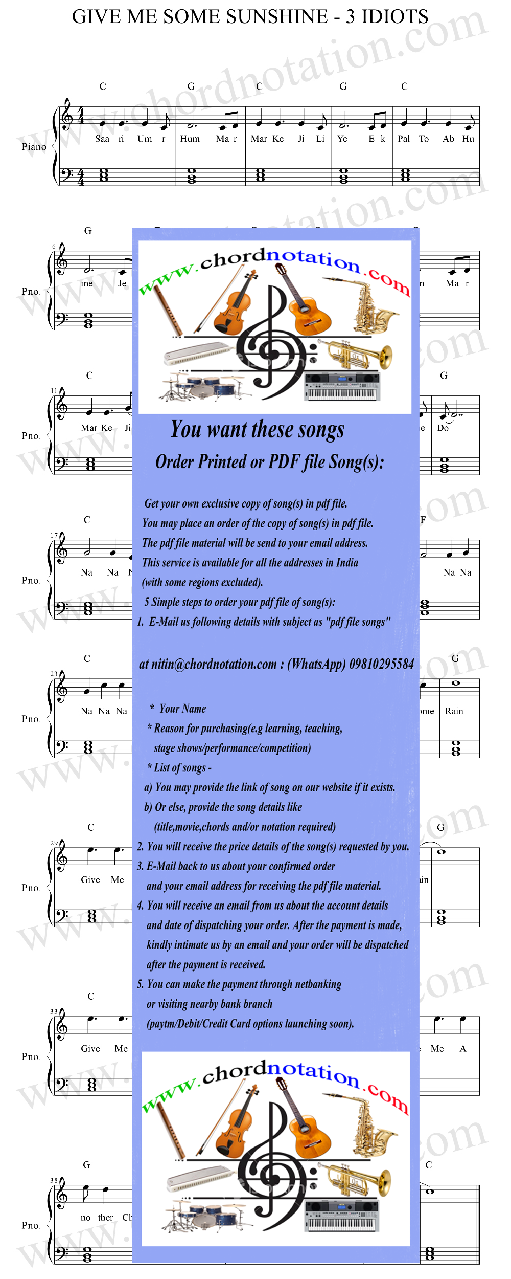 Chordnotation Song Free Hindi Songs Chords And Notations Guitar Piano Synthesizer The fastest, easiest way to learn to play from sheet music or by this great collection of pop songs correlates with hal leonard student piano library piano. chordnotation song free hindi songs chords and notations guitar piano synthesizer